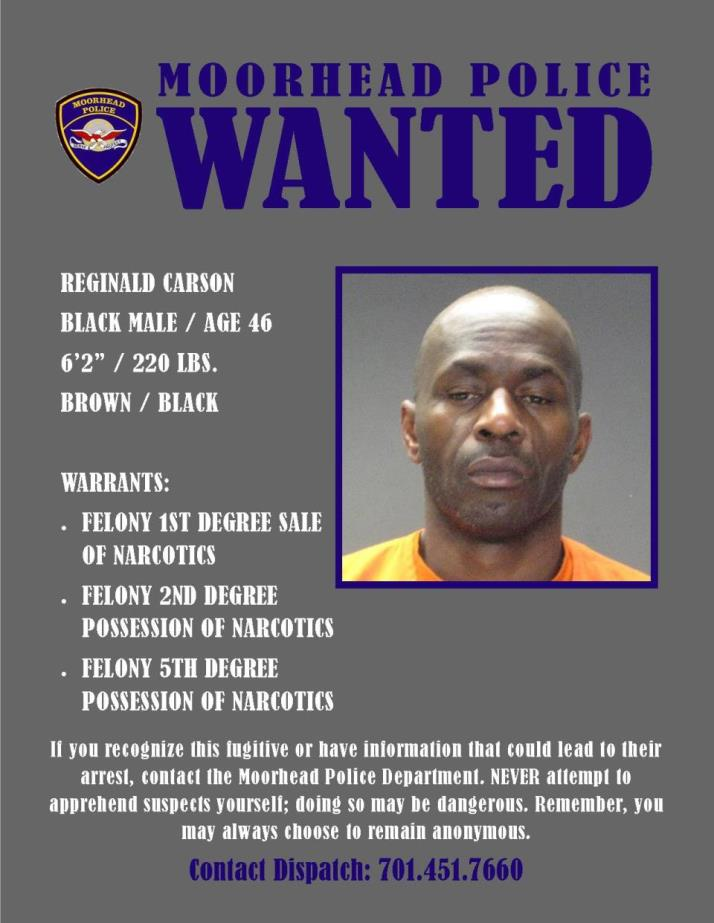 Wanted Wednesday May 24 - Carson