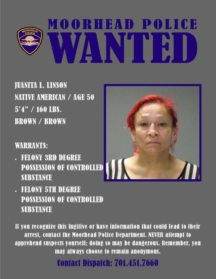 Wanted Wednesday June 14 - Linson