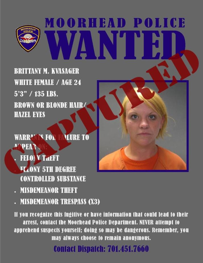 Wanted Wednesday August 9 - Kvasager
