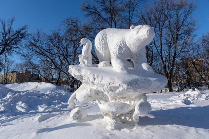 Check out the MBA Snow Sculpture Competition