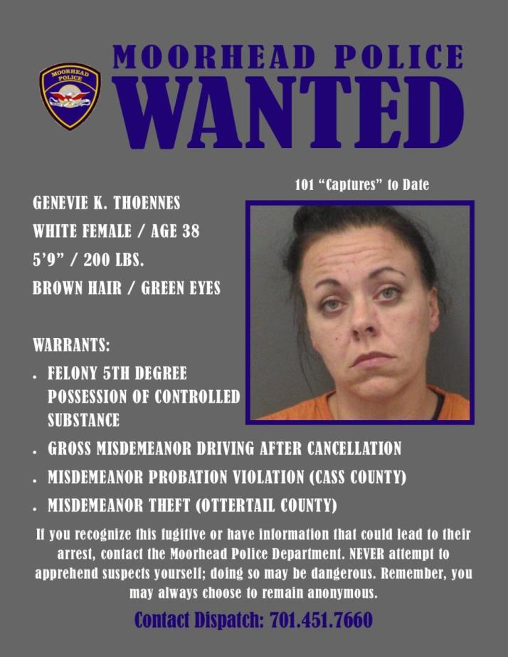 Wanted Wednesday September 25 - Thoennes