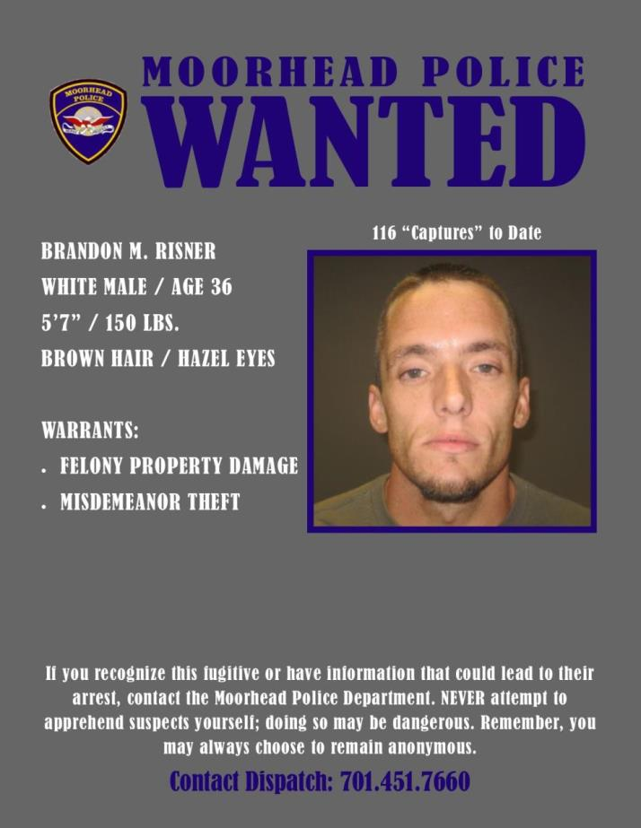 Wanted Wednesday February 5 - Risner