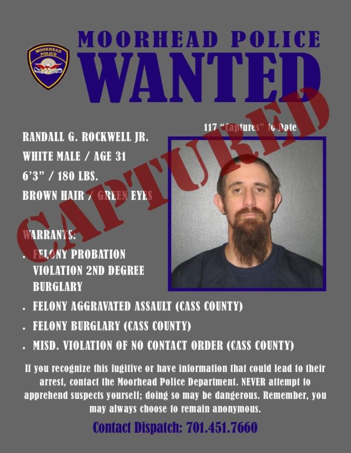 Wanted Wednesday March 5 - Rockwell Jr