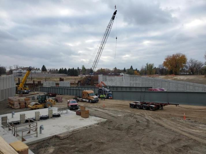 SE Main|20 St|21 St Underpass Bridge Beam Delivery