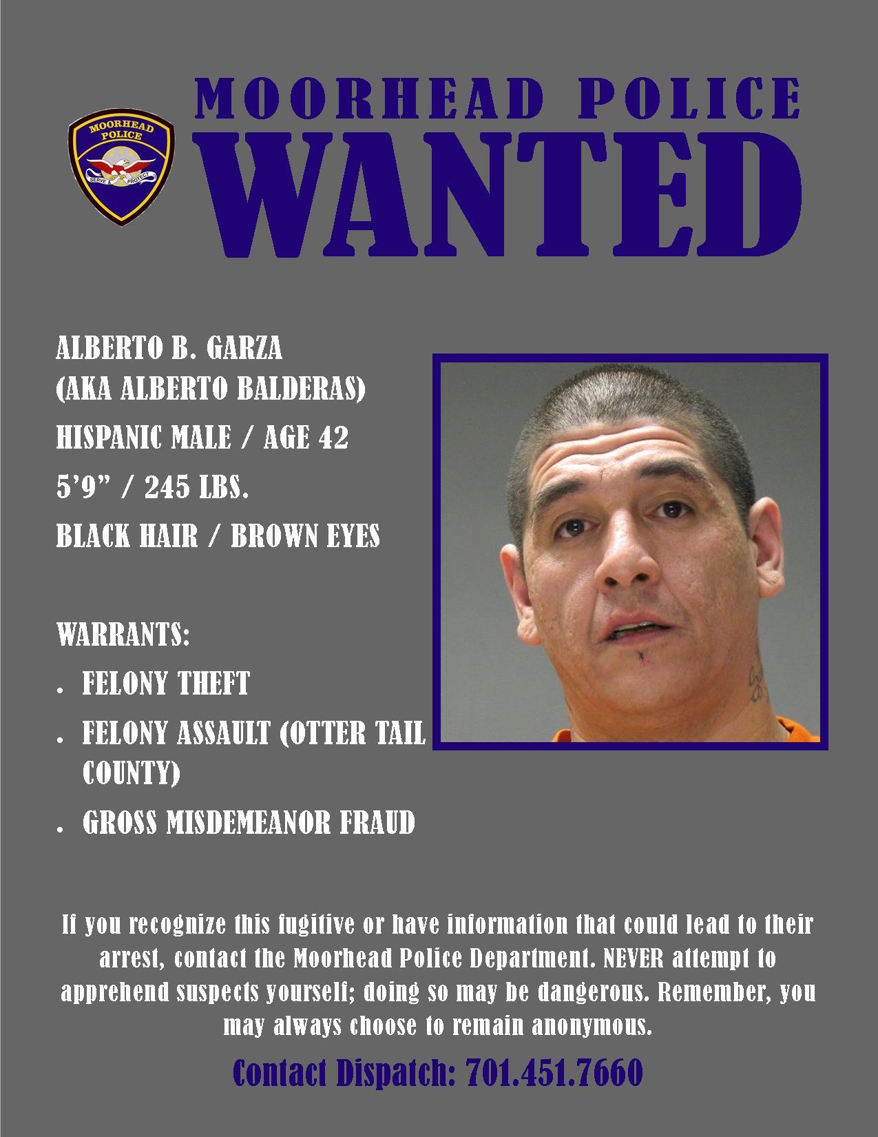 City of Moorhead : Wanted Wednesday